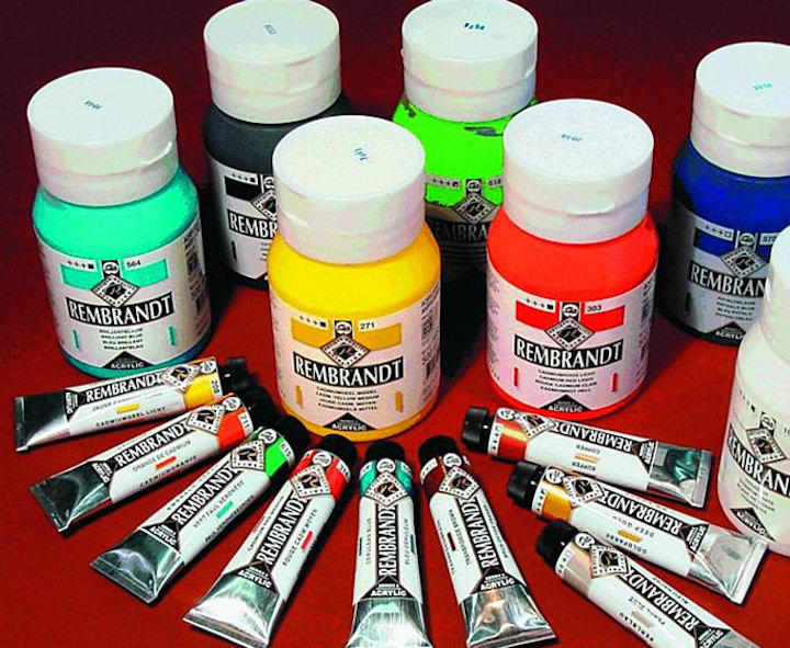 Набор акриловых красок для росписи камней