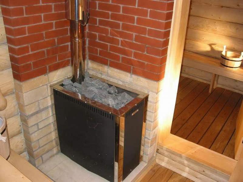 Внутреннее обустройство бани на даче: печь, электрика, вода, канализация и прочее