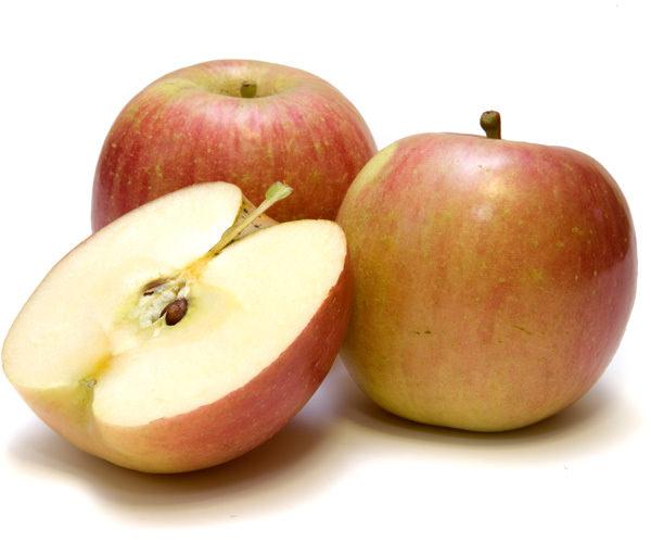 Яблоки крупные – до 250 г, округло-продолговатые, с гладкой кожицей и характерным ярким румянцем на желто-зеленом фоне