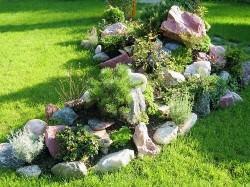Камни для альпийской горки следует подбирать, согласно некоторым правилам