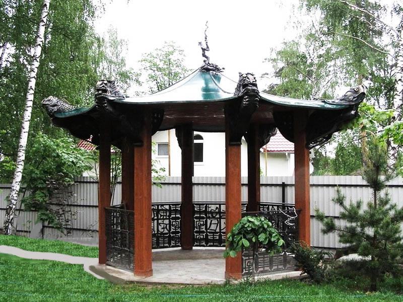 Беседка в японском стиле: восточная роскошь на приусадебном участке
