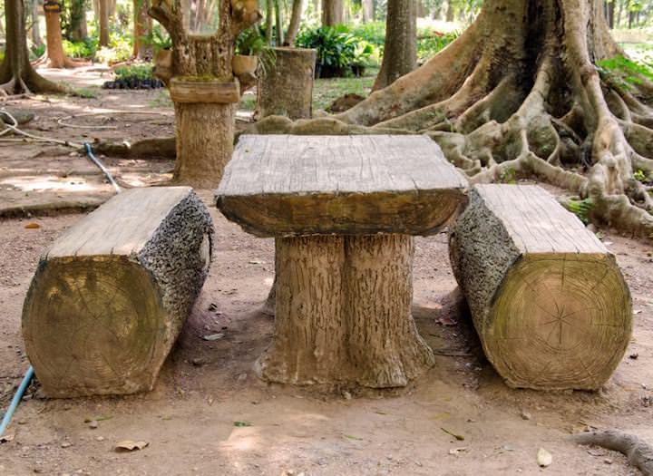 Дачная мебель из бревна — удобство, надежность и практичность на все случаи жизни
