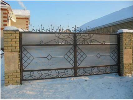 Дачные ворота из поликарбоната своими руками!
