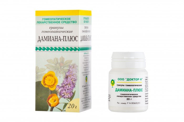 В нашей стране хорошо известно гомеопатическое средство Дамиана-плюс