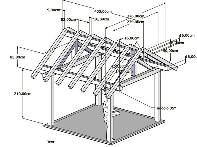 Правильно выполненный чертеж позволяет максимально правильно произвести расчёт необходимого количества основных опорных элементов для монтажа каркаса