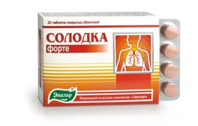Таблетки из солодки применяются при лечении заболеваний горла, от кашля, а также в качестве мочегонного средства