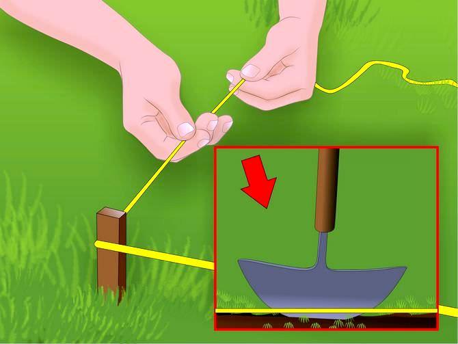 Правильная разметка территории производится при помощи веревки и маячковых кольев