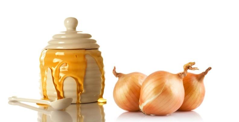 Луковая смесь с медом является эффективным потовыводящим средством