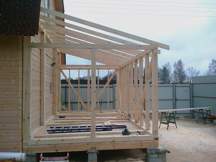 Установка опорных вертикальных стоек для крыши – важный этап возведения конструкции