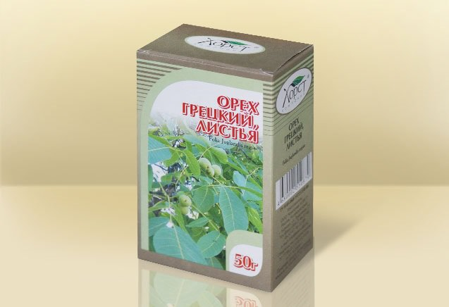 Для лечения щитовидной железы используют листья грецкого ореха