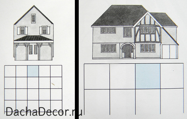 Размер квадрата должен быть привязан к основным элементам дома – если у вас большой дом, не мельчите
