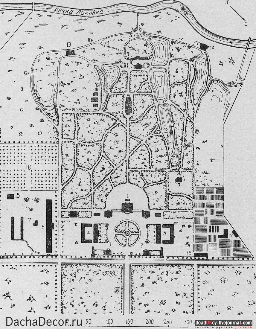 Посмотрите на планы старых усадеб – входную, ограниченную по площади зону всегда разбивали в регулярном стиле – широкие удобные проходы, симметричные аллеи; а за зданием начинался раскидистый парк в природном, пейзажном стиле