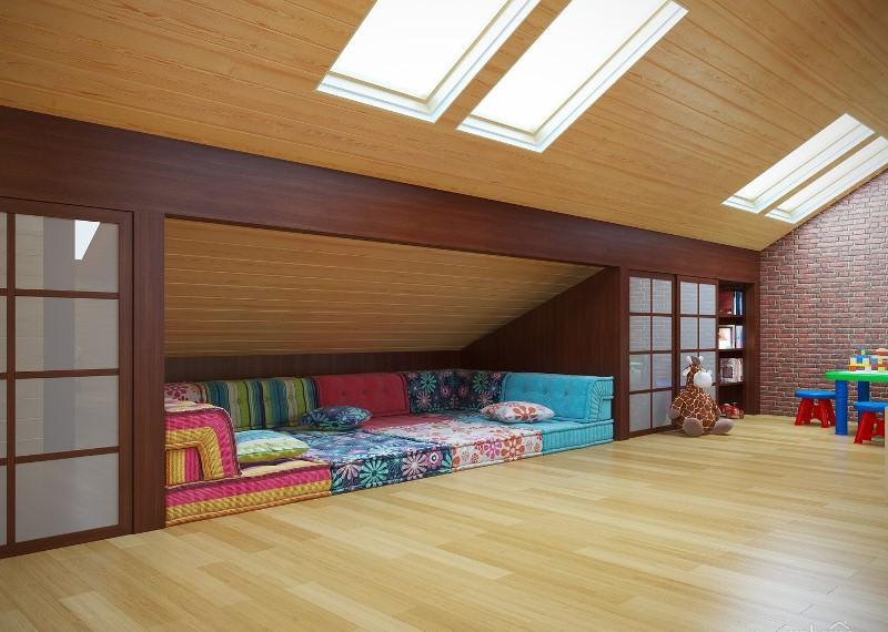 Если мансарда на даче имеет внушительные размеры, то при обустройстве в ней спальни не обойтись без фантазии и высокого уровня профессионализма
