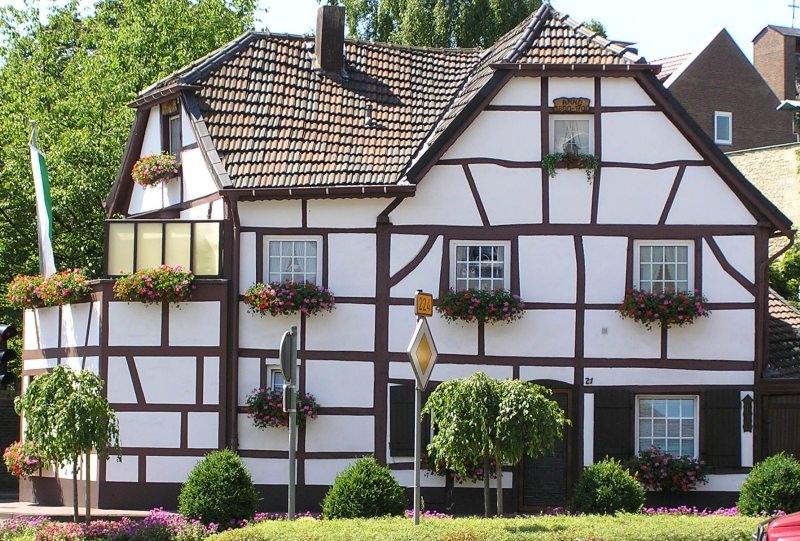 Дома в стиле фахверк - это всегда деревянные конструкции