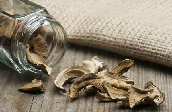 Можно также высушить древесные грибы