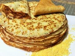 Пшенные блины получаются питательными, сочными, отлично подходят к завтраку