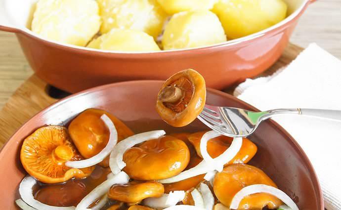 Соленые и маринованные рыжики являются достаточно калорийным продуктом