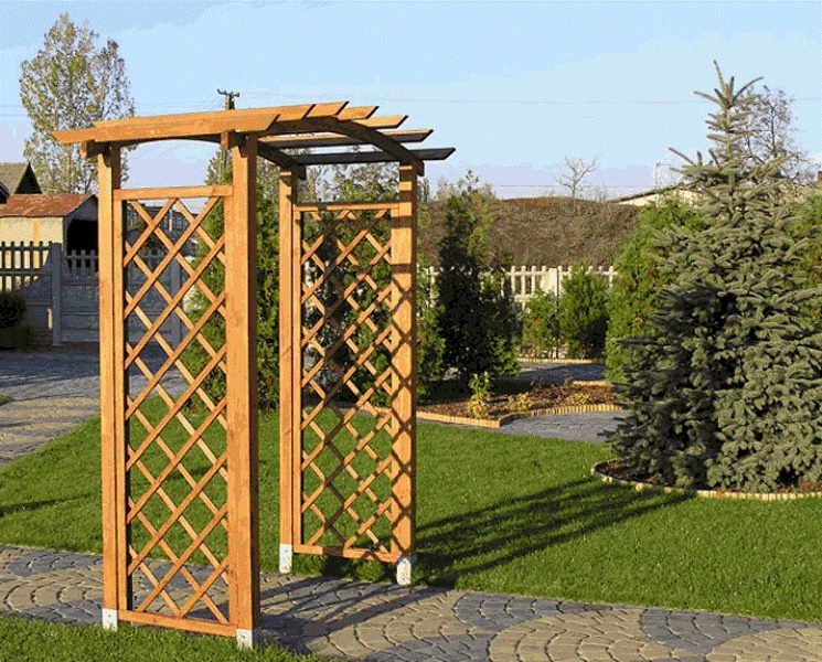 Деревянные опоры используются в прямолинейных конструкциях