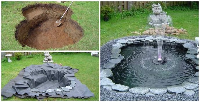Установка фонтана осуществляется согласно плану
