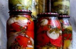 Салат из помидоров на зиму – замечательная заготовка