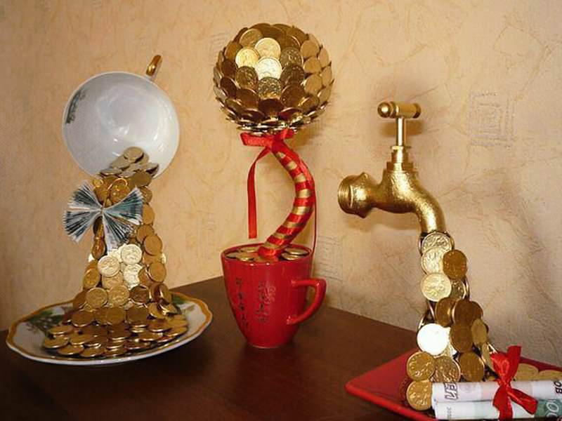 Как сделать топиарий из денег