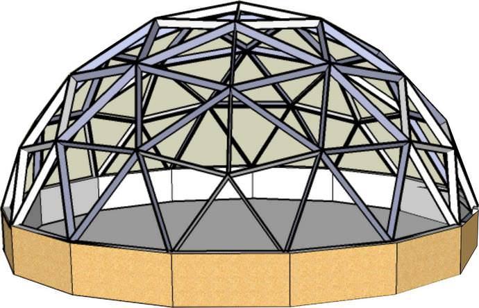 При создании купольной конструкции следует уделить особое внимание ее качественной герметизации и утеплению