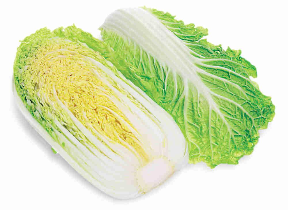 Мякоть капусты пекинской содержит достаточное количество клетчатки, полезной для пищеварительного тракта