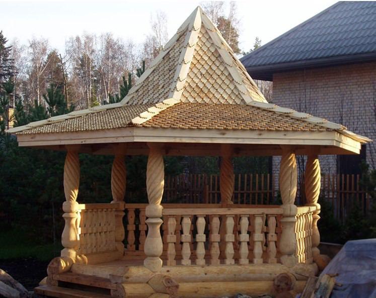 Строительство деревянной беседки своими руками