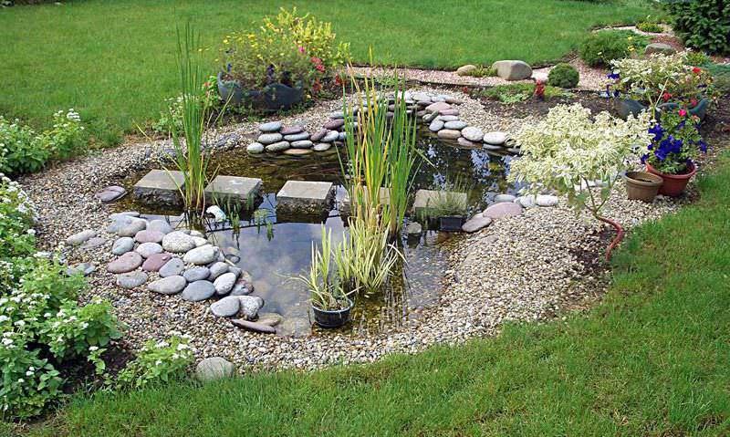 Декоративный водоём является весьма оригинальным элементом дизайна дачи и довольно часто применяется при озеленении ландшафта и благоустройстве территории сада