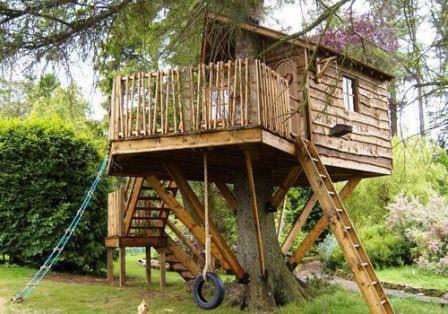 Подробная инструкция о том, как построить домик на дереве на своей даче