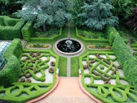 Основные зоны средиземного сада