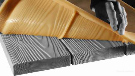 Такого результата можно добиться благодаря работе с деревянной формой под камень