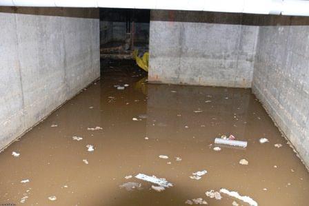 Серьезный вред грунтовыми водами наносится также подвалам и погребам
