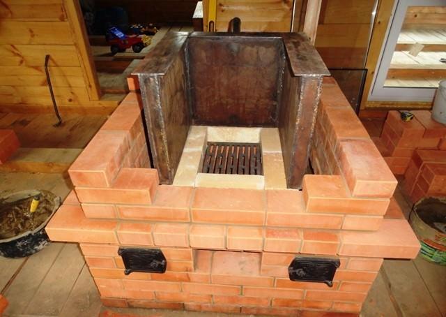 Кирпичная печь в дачном доме или в любом другом внутреннем помещении устанавливается на фундамент