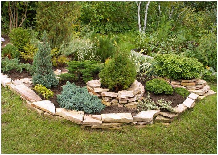 Как правильно сделать клумбу из камня: место расположения, выбор материалов, кладка, оформление