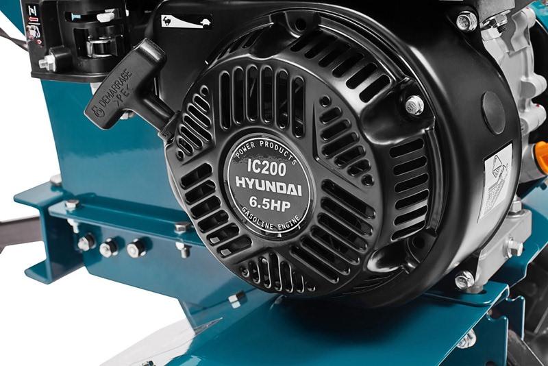Hyundai T850 оснащается двигателем объемом 163 см3 или 196 см3 и имеет мощность 5,5 или 6,5 л. с