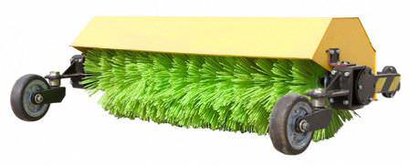 Щетка для мини-трактора — дополнительное оборудование для работ на дачной территории!