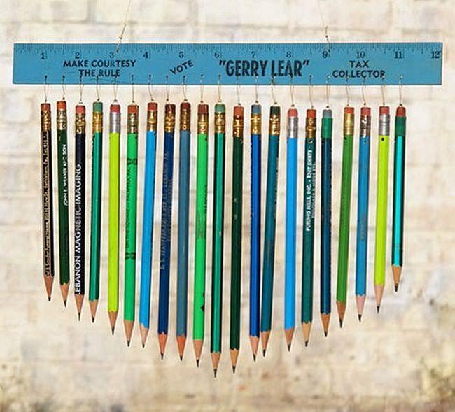 Музыка ветра из карандашей — весело и быстро