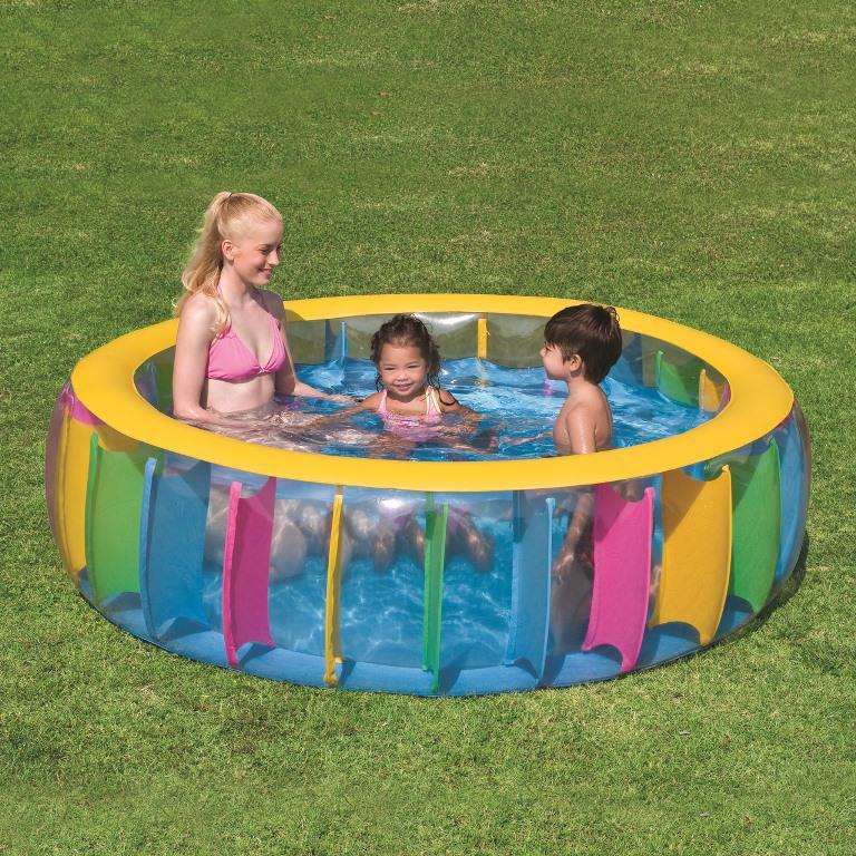 Надувной бассейн: простые радости на даче