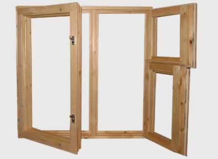 Боле дешевые деревянные окна, которые не менее качественно послужат дачному дому