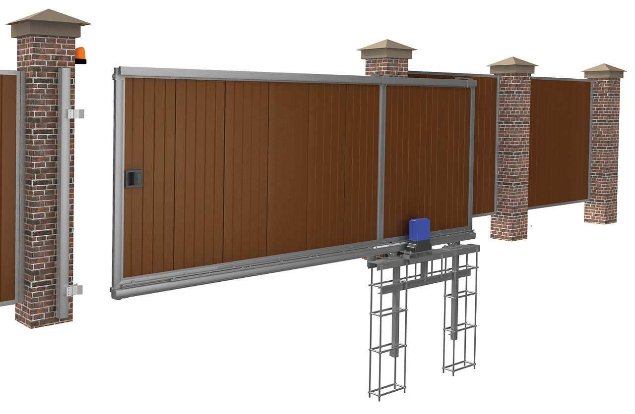 Откатные ворота с приводом (дополнительный материал для размышлений)