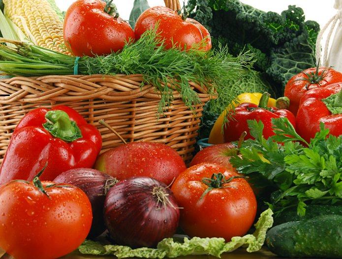 Потребление в пищу овощей благотворно влияет на здоровье организма человека