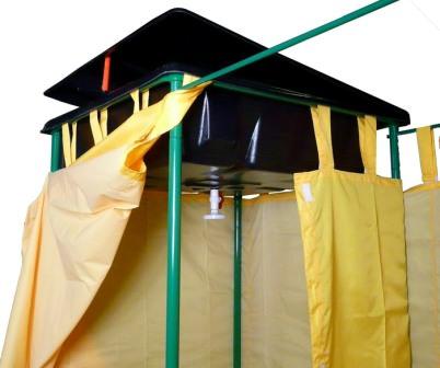 Пленочный душ для дачи, простейший вариант с небольшими затратами