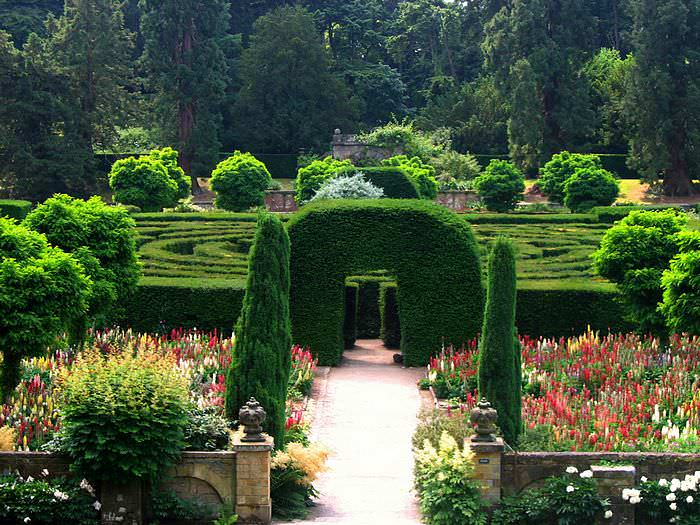 Форма традиционного лабиринта — круг, но вполне допустимо устроить сад-лабиринт в форме квадрата, треугольника или в виде букв – инициалов человека