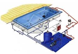 Схема оборудования для бассейна