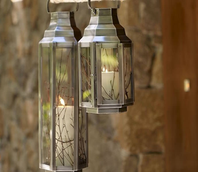 Светильники для сада своими руками