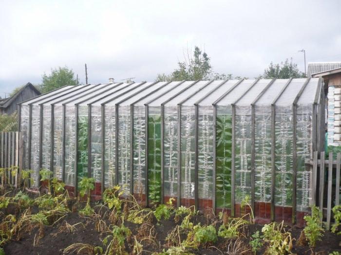 Для герметичности крыша перевязывается скотчем или же может быть накрыта поверху полиэтиленовой клеенкой