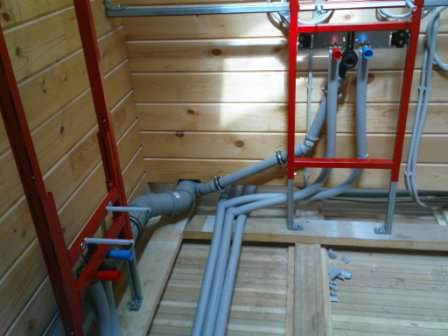 Внутренние работы по водоснабжению на даче: горячая и холодная вода, канализация