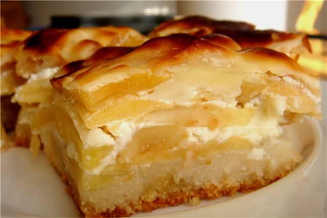 Шарлотка из белого хлеба