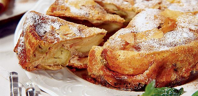 шарлотка с яблоками рецепт с корицей фото